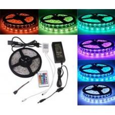 LED TRAK 5m - 300 diod (3528) - RGB (z Napajalnikom in Daljinskim Upravljalnikom)
